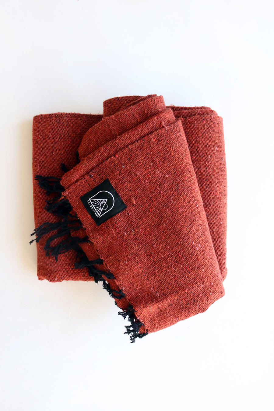 Terracotta Red // Handwoven Blanket