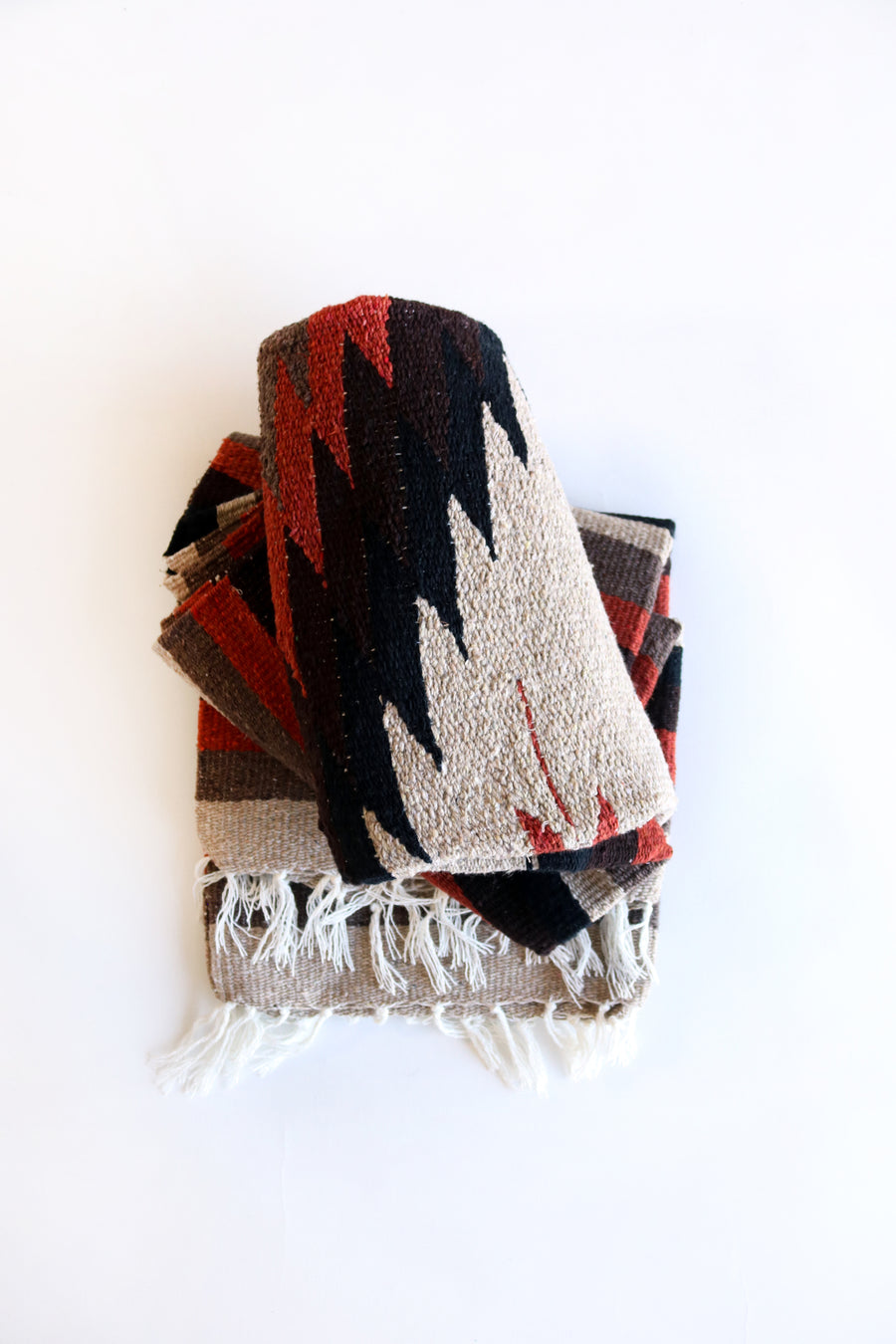 Earth Tones (Terracotta) // Handwoven Blanket