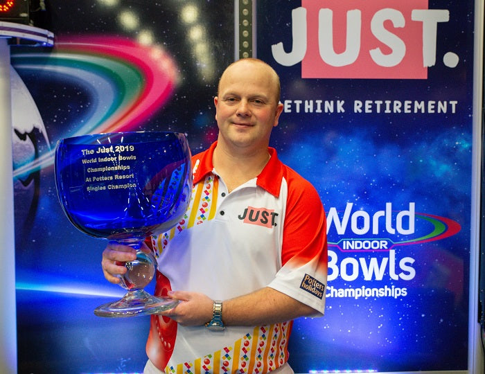 Anderson aims for more success at Potters at the Just 2020 World Indoor Bowls Championships