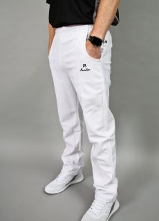 Henselite White Unzipped Sports Trousers