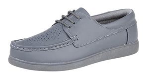 Dek Laced Unisex Bowls Shoe available in Grey and White