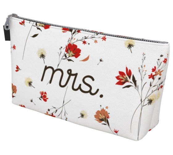 Wildflower Mrs. Makeup Bag