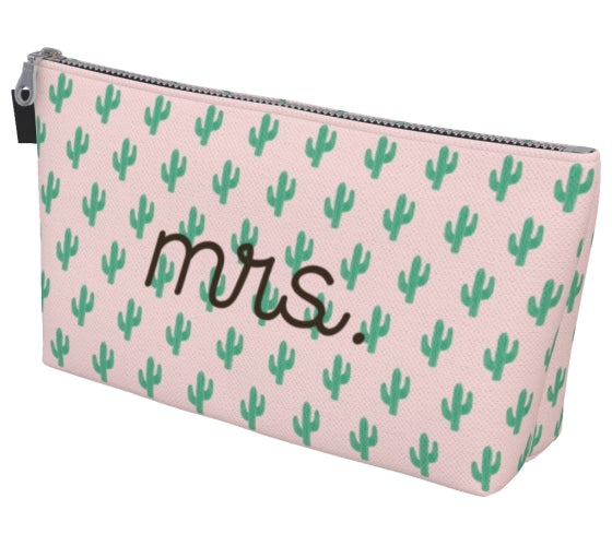 Cactus Print Mrs. Makeup Bag