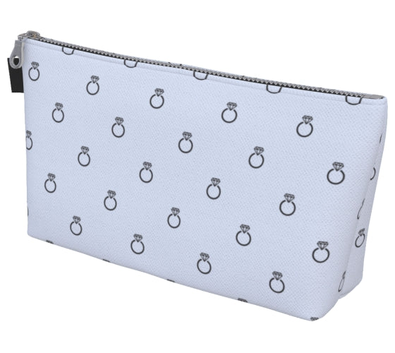 Ring Print Makeup Bag