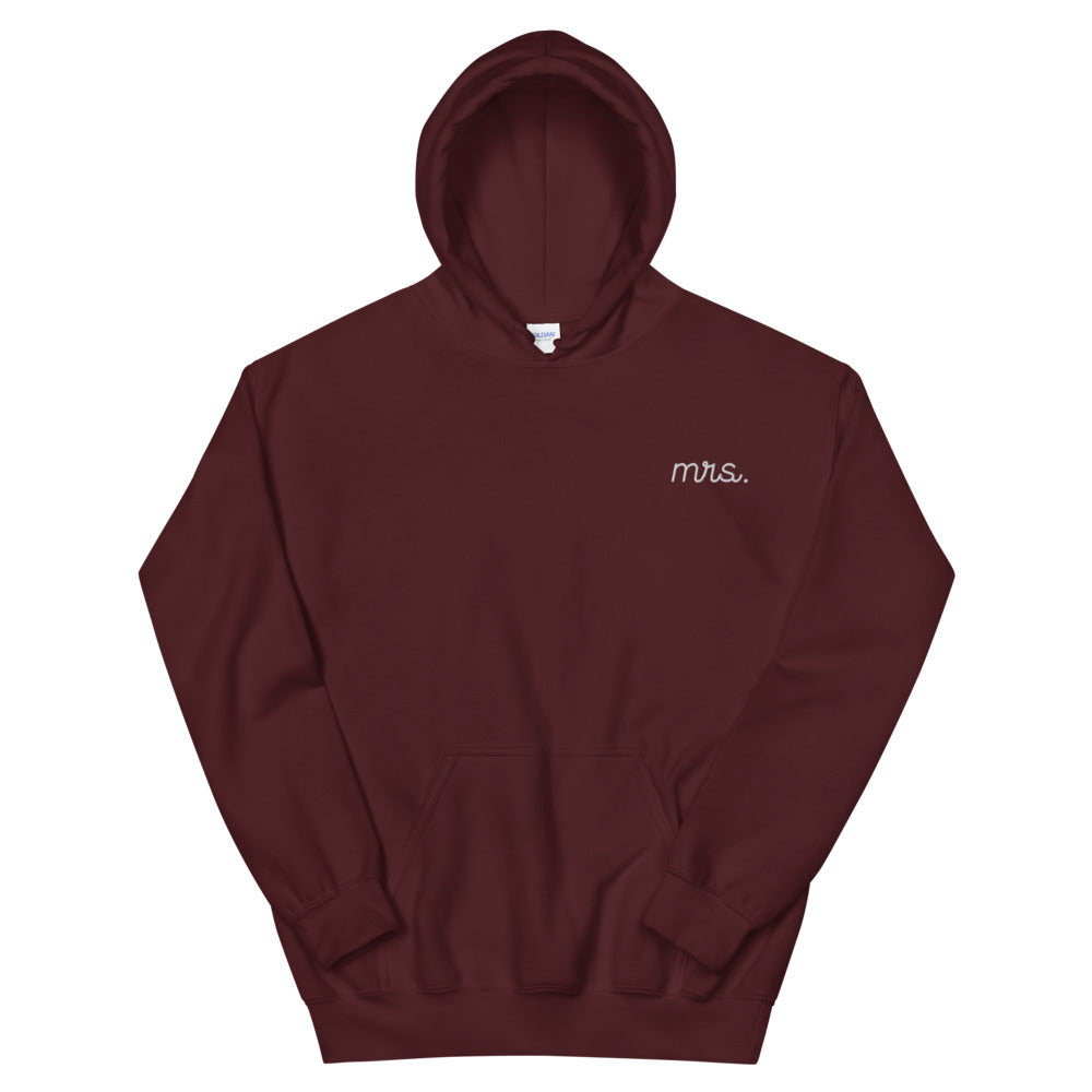 Mrs. Stitched Color Hoodie