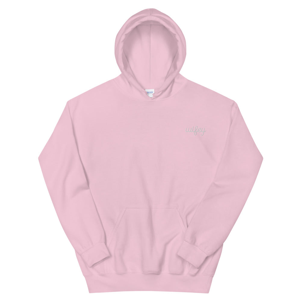 Wifey Stitched Color Hoodie
