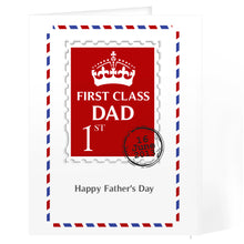 Load image into Gallery viewer, Personalised 1st Class Dad Card