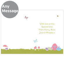 Load image into Gallery viewer, Personalised Easter Meadow Chick or Bunny Card