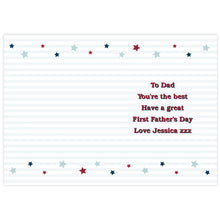 Load image into Gallery viewer, Personalised 1st Father's Day Card