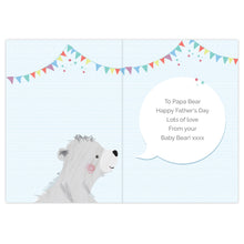 Load image into Gallery viewer, Personalised 1st Father's Day Daddy Bear Card