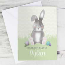 Load image into Gallery viewer, Personalised Easter Bunny Card