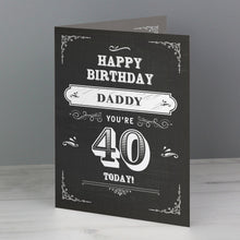 Load image into Gallery viewer, Personalised Vintage Typography Birthday Card