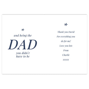 Personalised Stepdad Father's Day Card
