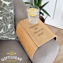 Load image into Gallery viewer, Personalised Free Text Wooden Sofa Tray