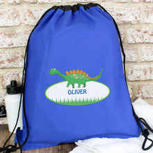 Load image into Gallery viewer, Personalised Blue Swim & Kit Bags