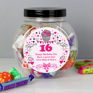 Personalised Birthday Big Age Sweet Jar