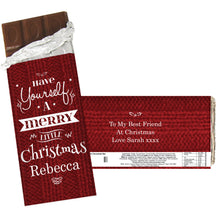 Load image into Gallery viewer, Personalised Merry Little Christmas Milk Chocolate Bar