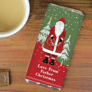 Personalised Father Christmas Milk Chocolate Bar