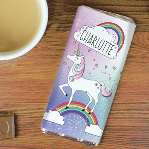 Personalised Unicorn Milk Chocolate Bar