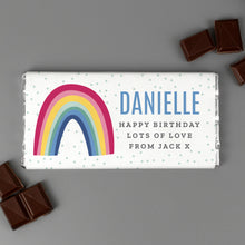 Load image into Gallery viewer, Personalised Rainbow Milk Chocolate Bar