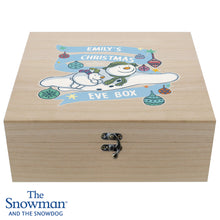 Load image into Gallery viewer, Personalised The Snowman and the Snowdog Large Wooden Christmas Eve Box