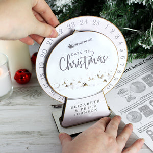 Personalised 'Make Your Own' Christmas Advent Countdown Kit