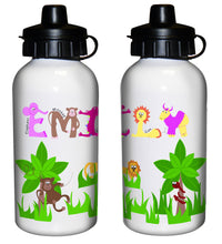Load image into Gallery viewer, Personalised Animal Alphabet Drinks Bottle - Blue or Pink