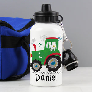 Personalised Drinks Bottle - Digger or Tractor