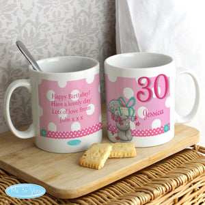 Personalised Me To You Birthday Big Age Pink or Blue Mug