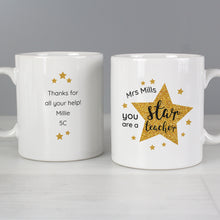 Load image into Gallery viewer, Personalised Star Teacher's Mug