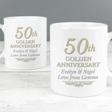 Load image into Gallery viewer, Personalised Anniversary Mug Set  25th, 40th or 50th Anniversary