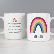 Load image into Gallery viewer, Personalised Rainbow Mug
