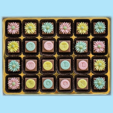 Load image into Gallery viewer, Personalised Pastel Daisies Marzipan Chocolates