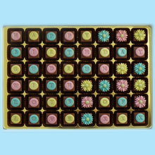 Load image into Gallery viewer, Personalised Pastel Daisies Marzipan Chocolates Box of 48