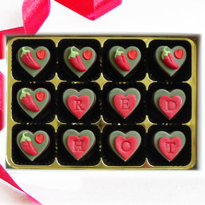 Personalised Chilli Chocolate Hearts