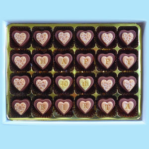 Box of 48 Personalised Ginger Hearts