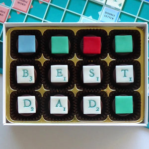 Spell it out!  Father's Day Chocolates -  Boxes of 12, 16 or 24