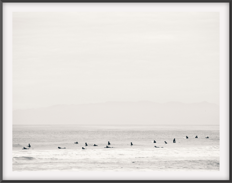 Surfers Black and White