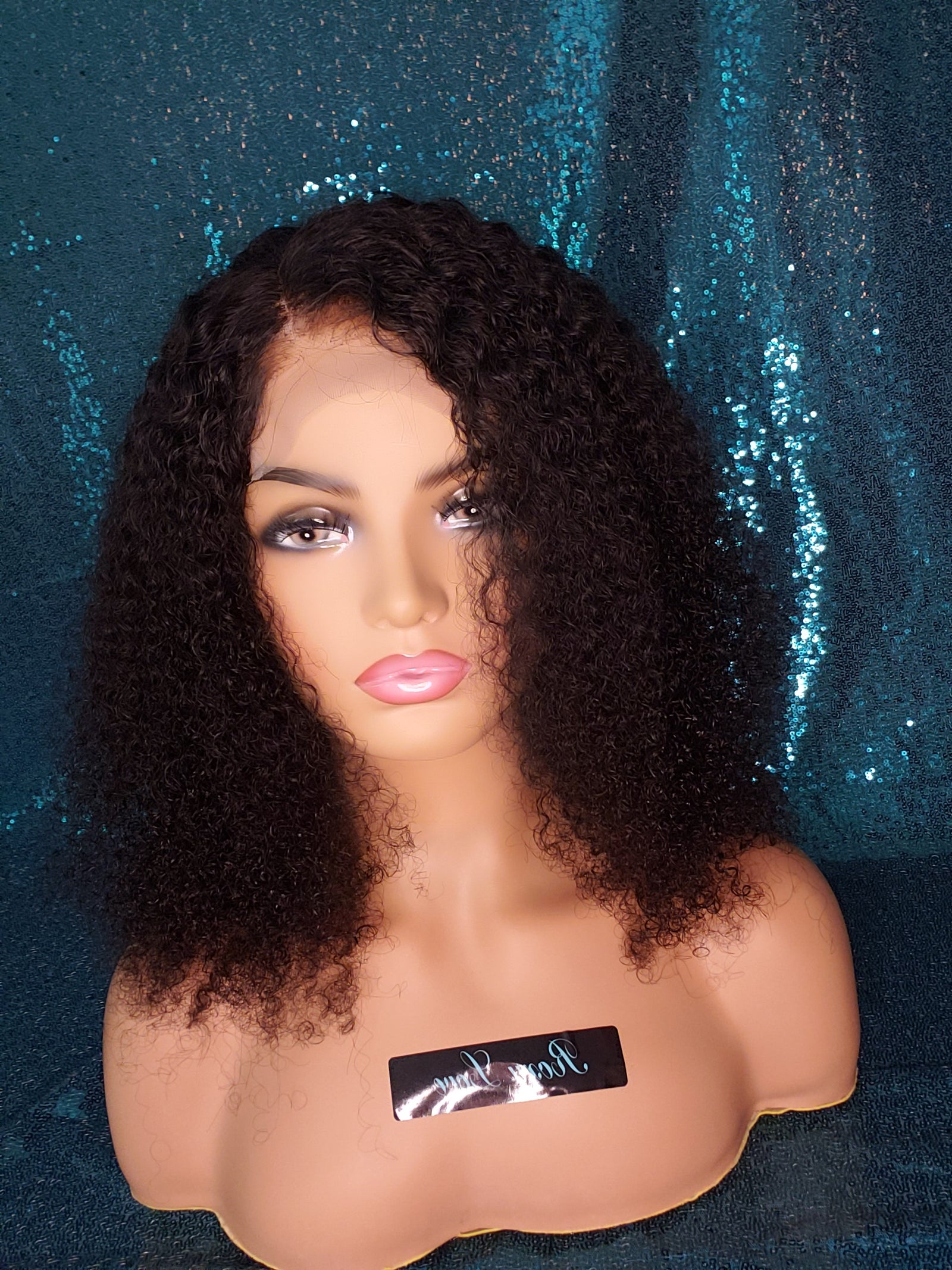 "16"" Kinky Curly Lace Closure Wig"