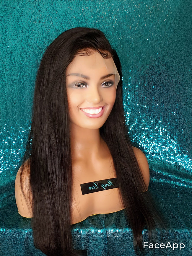 "20"" Straight Lace Front Wig"