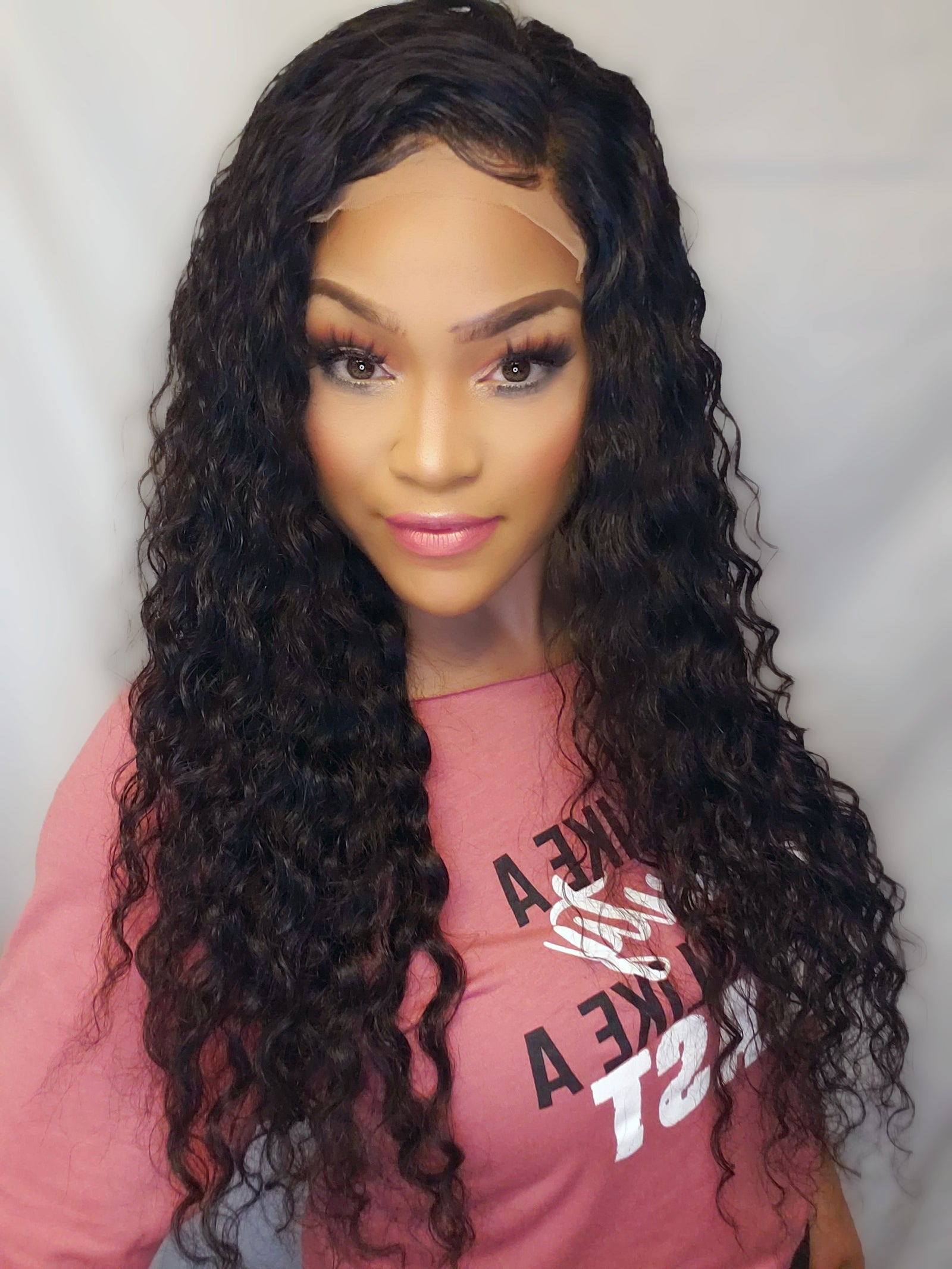 "24"" Elastic Wave lace closure wig"