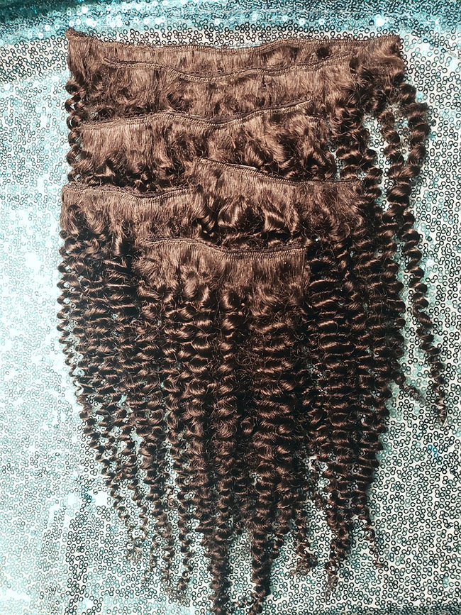 "16"" Kinky Curly Clip-ins"