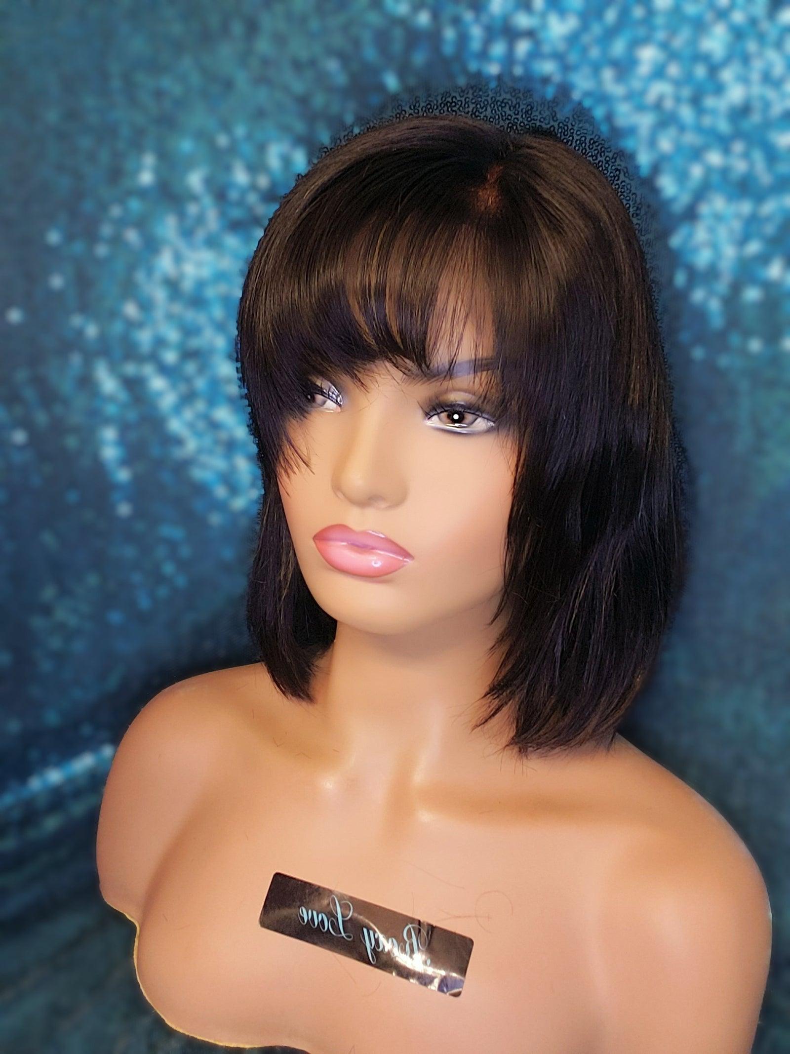 "10"" Straight bob Lace Closure Wig"