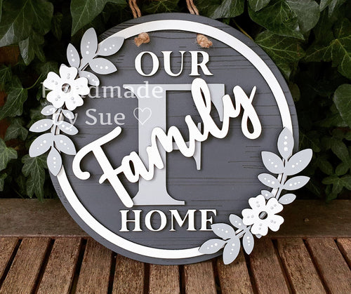 Our Family Home Hanging Wall Circle