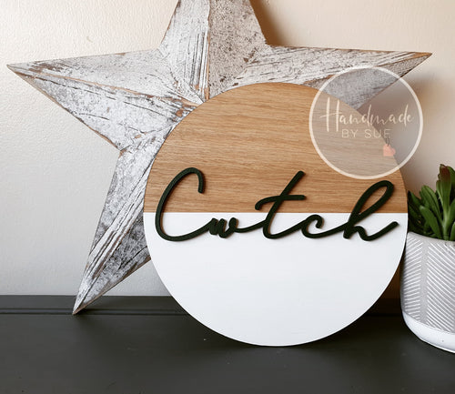 Cwtch Circle Wall Art 25cm