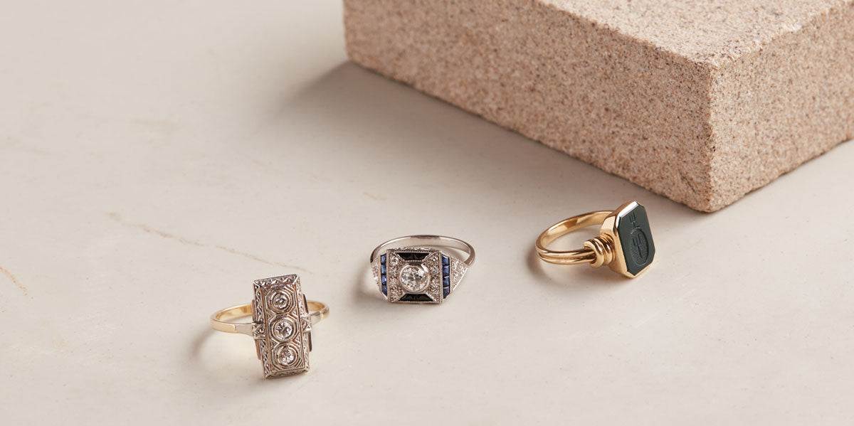 Vintage Rings by Natalie Marie