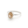 Precious Dotted Oval Rutilated Quartz Solitaire
