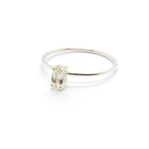 Tiny Marquise Ring with Savannah Sunstone
