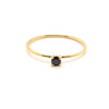 Tiny Black Stone Ring