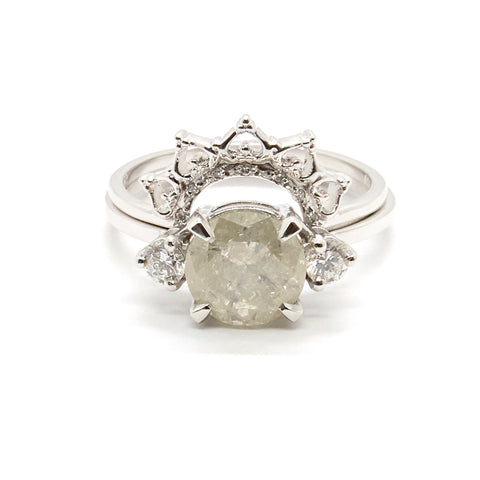 Diamond Lace Crown Ring